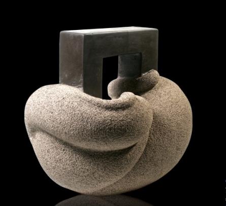 Prashant Bangal | Cat 17 Sculpture by artist Prashant Bangal on Basalt Stone | ArtZolo.com