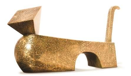 Brass Sculpture titled 'Cat 29' by artist Prashant Bangal