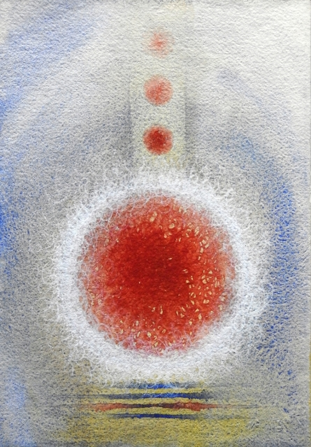 Abstract Watercolor Art Painting title 'Untitled 2' by artist Anamika Kuchan