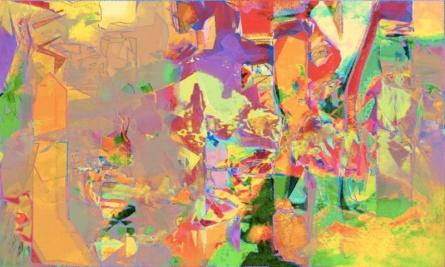 Untitled 9 | Painting by artist Sunil Balkawade | mixed-media | Canvas
