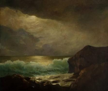 Seascape Oil Art Painting title 'Painting 1 1' by artist Biju Thomas