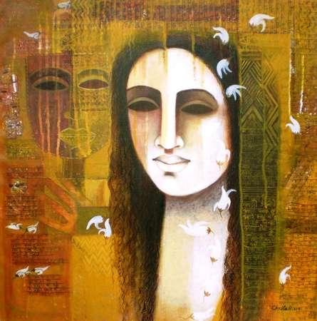 Nautanki Series 5 | Painting by artist Chaitali Mukherjee | acrylic | Canvas