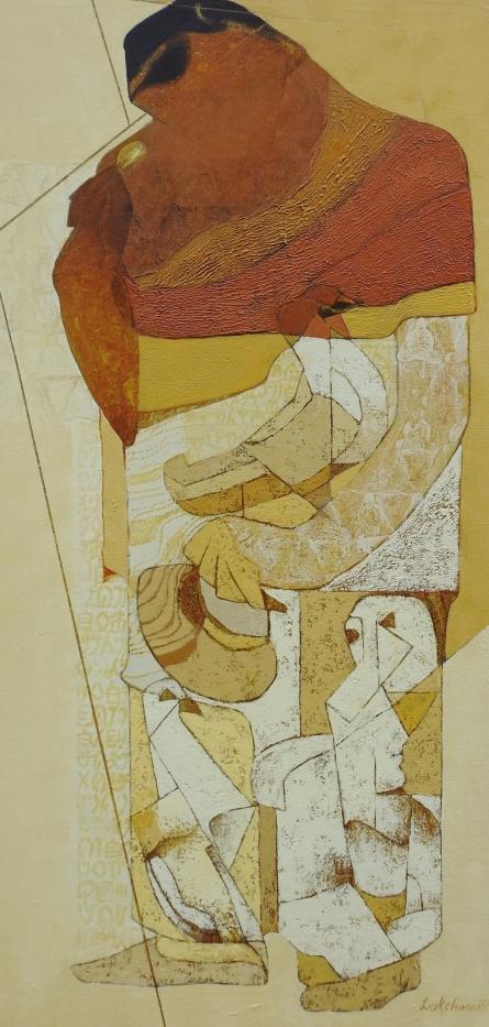 contemporary Acrylic Art Painting title Swayvedan 109 by artist Lakshman Chavan