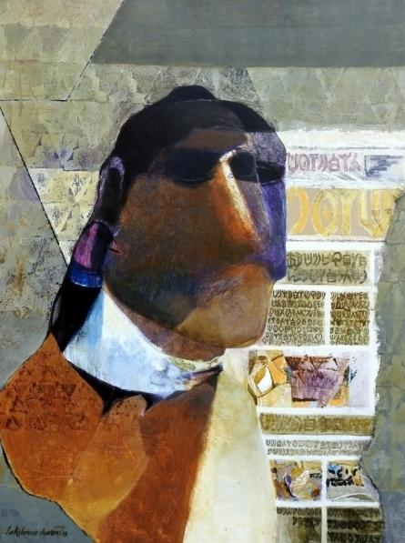 contemporary Acrylic Art Painting title 'Swayvedan 60' by artist Lakshman Chavan