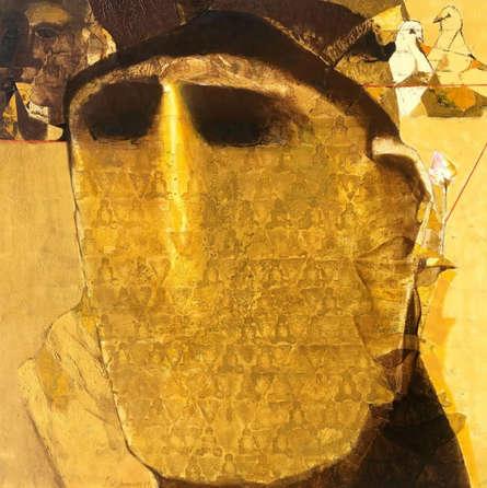 contemporary Acrylic Art Painting title 'Swayvedan 61' by artist Lakshman Chavan