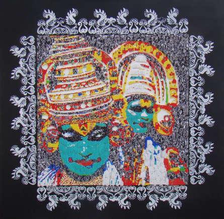 Vinita Dasgupta | Katakhali Mixed media by artist Vinita Dasgupta on Board | ArtZolo.com