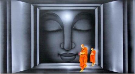 Divine Light 2 | Painting by artist Pradeesh K | acrylic | Canvas