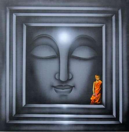 Divine Light 4 | Painting by artist Pradeesh K | acrylic | Canvas