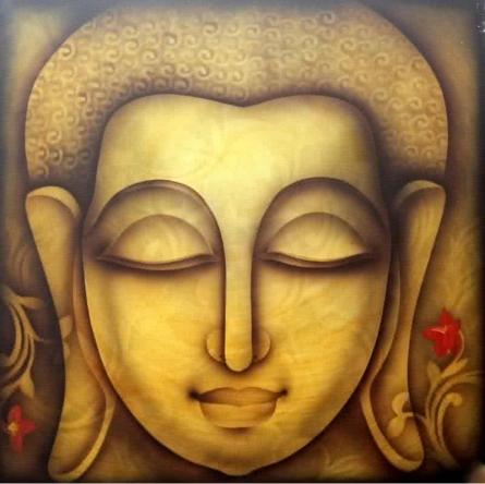 Buddha 1   Painting by artist Pradeesh K   acrylic   Canvas