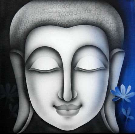 Buddha 2 | Painting by artist Pradeesh K | acrylic | Canvas
