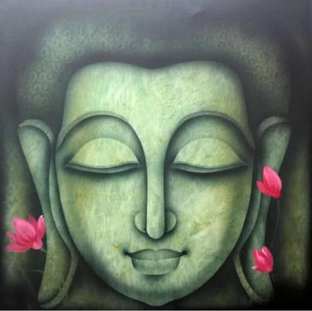 Buddha 3 | Painting by artist Pradeesh K | acrylic | Canvas