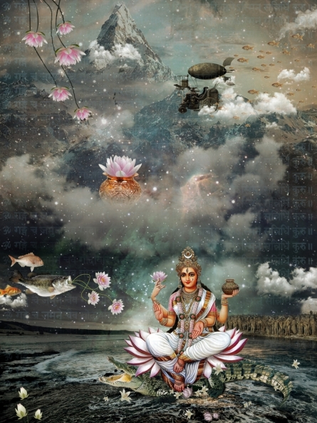 Rakesh Chaudhary | Ganga Digital art Prints by artist Rakesh Chaudhary | Digital Prints On Canvas, Paper | ArtZolo.com