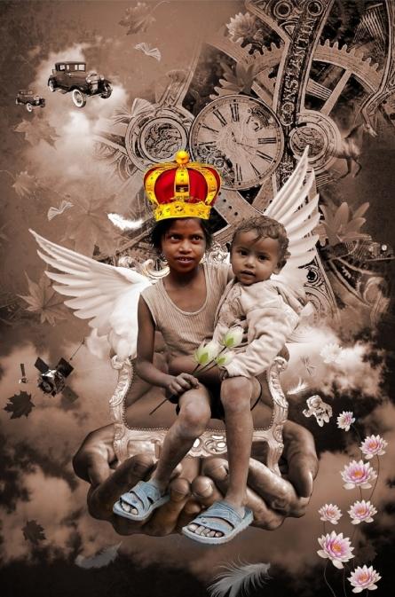 Rakesh Chaudhary | Happy Tears Digital art Prints by artist Rakesh Chaudhary | Digital Prints On Canvas, Paper | ArtZolo.com