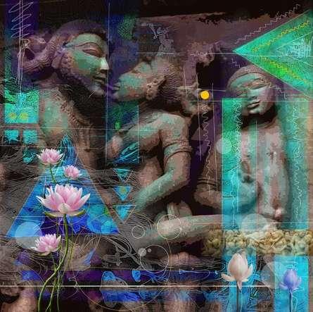 Rakesh Chaudhary | Khajuraho Series 1 Digital art Prints by artist Rakesh Chaudhary | Digital Prints On Canvas, Paper | ArtZolo.com