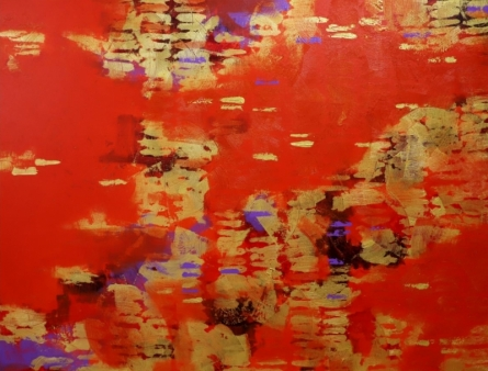 Golden Patterns | Painting by artist Ns Art | acrylic | Canvas
