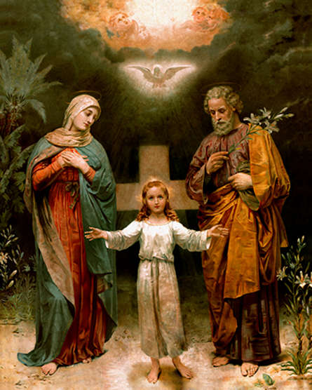 Religious Acrylic Art Painting title 'Holy Family 1' by artist Ns Art