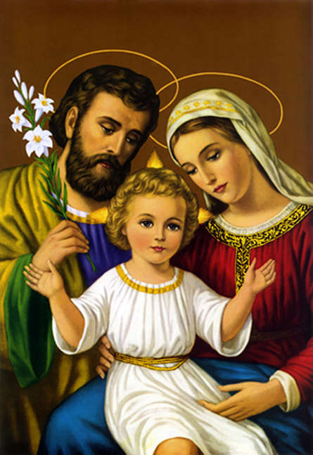Ns Art | Acrylic Painting title Holy Family 5 on Canvas | Artist Ns Art Gallery | ArtZolo.com