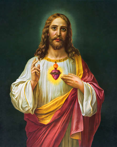 Religious Acrylic Art Painting title Sacred Heart 19 by artist Ns Art
