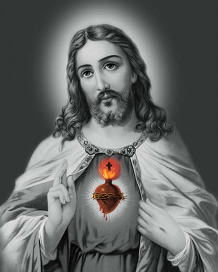 Ns Art Paintings | Acrylic Painting title Sacred Heart 21 by artist Ns Art | ArtZolo.com