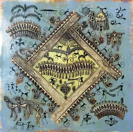 Warli Art 4 | Painting by artist Pradeep Swain | other | Canvas
