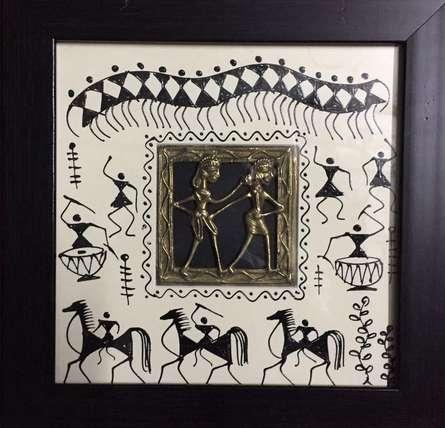 Folk Art Tribal Art Painting title Dokra Art 6 by artist Pradeep Swain