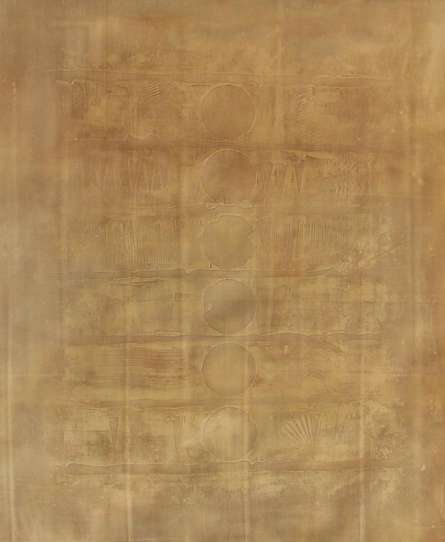 Abstract Acrylic Art Painting title 'Solid Golden Abstract Ii' by artist Mohit Bhatia