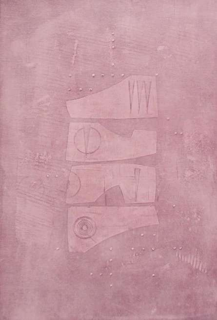 Mohit Bhatia | Acrylic Painting title Solid Pink Abstract on Canvas | Artist Mohit Bhatia Gallery | ArtZolo.com