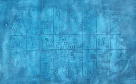 Solid Blue Abstarct I | Painting by artist Mohit Bhatia | acrylic | Canvas