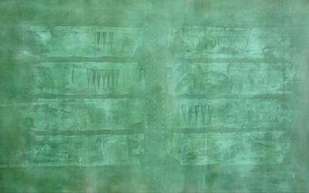 Solid Green Abstract Iii | Painting by artist Mohit Bhatia | acrylic | Canvas