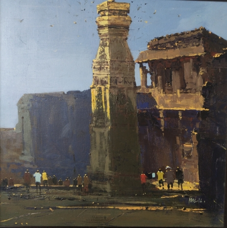 Cityscape Acrylic Art Painting title 'Untitled 3' by artist Hari Dhongade