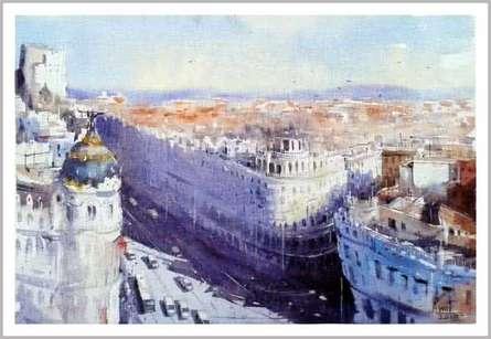 Izmir Turkey III | Painting by artist Amit Kapoor | watercolor | Paper