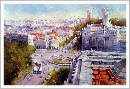 Izmir Turkey IV | Painting by artist Amit Kapoor | watercolor | Paper