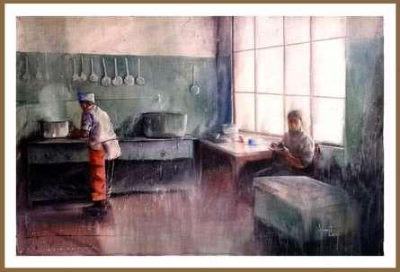 Cityscape Watercolor Art Painting title 'Mcleod Ganj Memory' by artist Amit Kapoor