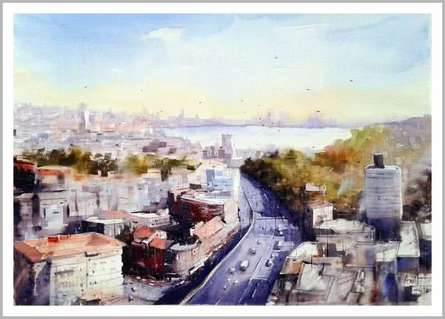 Mumbai I | Painting by artist Amit Kapoor | watercolor | Paper