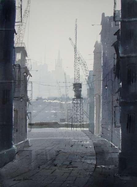 Winter | Painting by artist Jiaur Rahman | watercolor | Paper