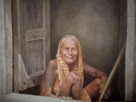 Life | Painting by artist Raghunath Sahoo | watercolor | Paper