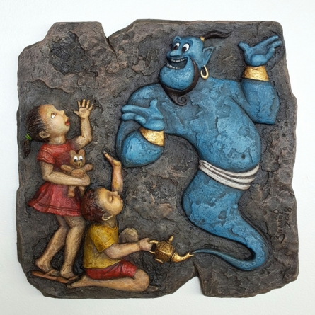 Mixed Media Painting titled 'Untitled' by artist Shashikant Charbe on Fiberglass On Board