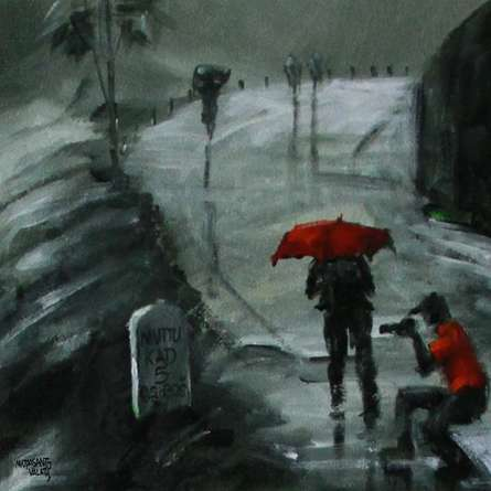 Rain Click II | Painting by artist Mopasang Valath | acrylic | Canvas