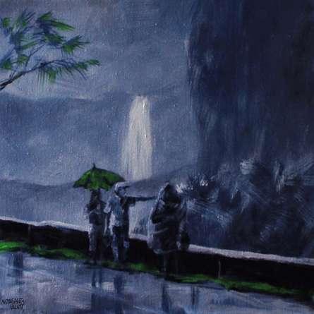Mopasang Valath | Acrylic Painting title Purple Rain on Canvas | Artist Mopasang Valath Gallery | ArtZolo.com