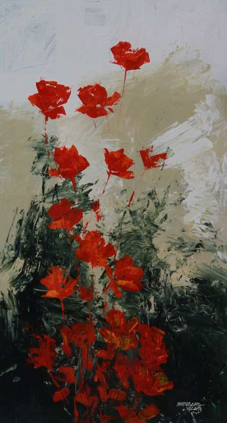 Flowers 1   Painting by artist Mopasang Valath   acrylic   Canvas