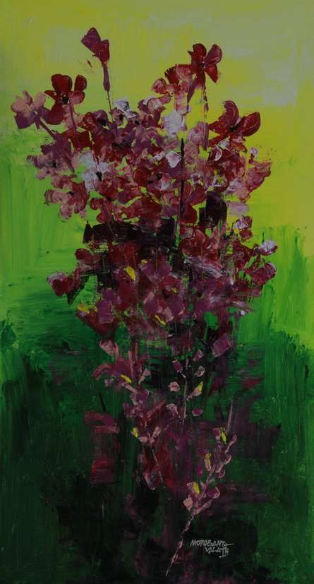 Flowers 13   Painting by artist Mopasang Valath   acrylic   Canvas