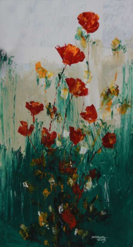 Flowers 2 | Painting by artist Mopasang Valath | acrylic | Canvas