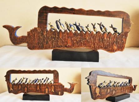 Wood, Metal Sculpture titled 'Mother Goddess' by artist Renu Bala