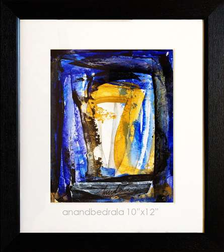 Abstract Acrylic Art Painting title Untitled 15 by artist Anand Bedrala