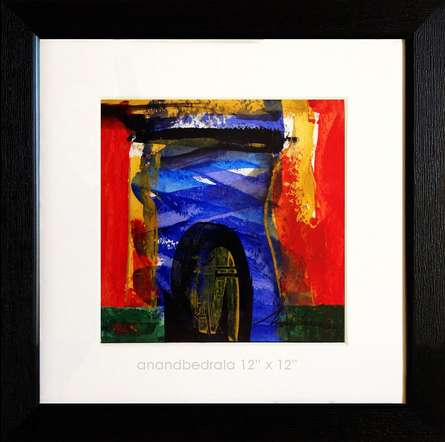 Abstract Acrylic Art Painting title 'Untitled 46' by artist AnndBedrala Bangalore