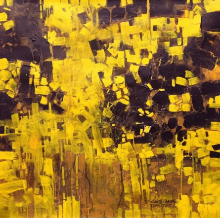 Abstract Acrylic Art Painting title 'Untitled 11' by artist Sagar Bondre