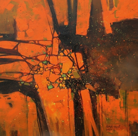 Abstract Acrylic Art Painting title Untitled 13 by artist Sagar Bondre