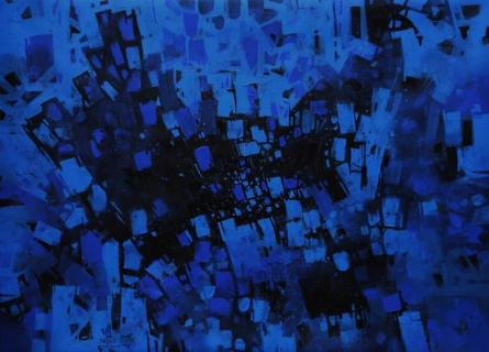Abstract Acrylic Art Painting title Untitled 6 by artist Sagar Bondre