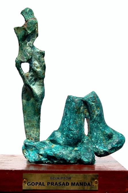 bronze Sculpture titled 'Bronze' by artist GOPAL PRASAD MANDAL