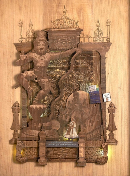 Teak Wood Sculpture titled 'The Prince Bounty' by artist Shriram Mandale